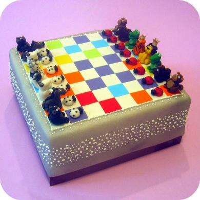 Dahlia s Custom Cakes: Animal Chess Cake